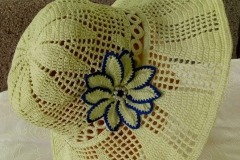 lemon yellow summer hat