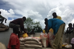 in Cuamba, distribution of rice