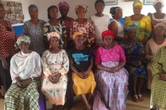 Widows group in Akure, in the training center