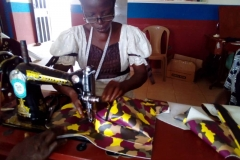 Sewing work in the training center in Akure