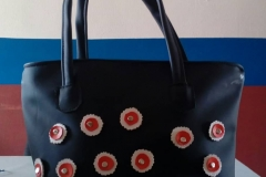 Leather bag, made by the widows in Akure
