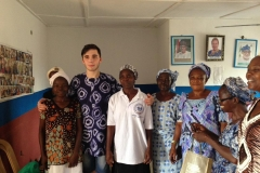 John in Akure, im Trainingszentrum