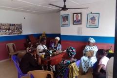 Näharbeiten im Trainingszentrum in Akure