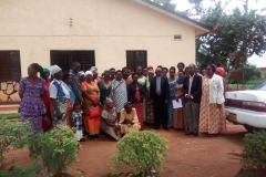 Präsentation des Projektes einer weiteren Gruppe von Witwen