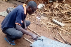 Manufacture of a device for charcoal production