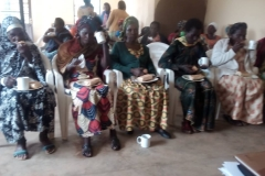 Präsentation of the project to another group of widows