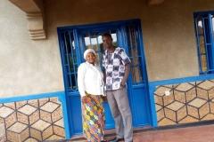 Leopold Kayobotsi with his wife