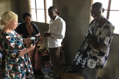 Meeting a group of widows in the western province of Rwanda