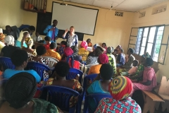 meeting a new group of widows in Kigali
