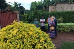 The garden of our guesthouse in Kigali
